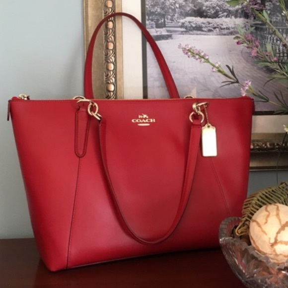 f070d0990cc8 Coach Ava Tote in Classic Red