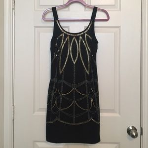 Bisou Bisou Black Sequin Party Dress Sz 4