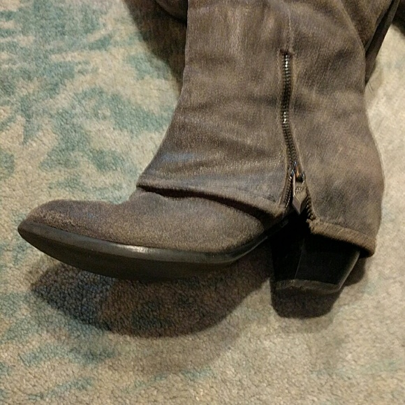 50 fergie shoes fergie gray suede boots from
