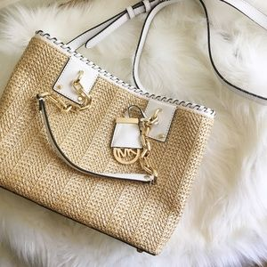 Michael Kors Medium Rosalie Straw Tote