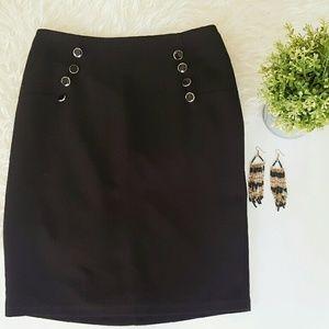 FOREVER21 black office skirt