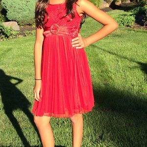 My Michelle Other - Red Sequin Dress-Girls size 10