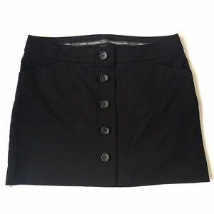 Express Dresses & Skirts - Express Editor Black Button Front Mini Skirt