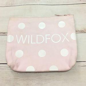 Pink Polka Dot WILDFOX makeup bag