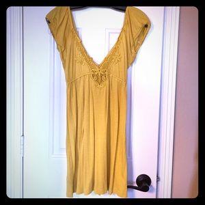 Deep V summer dress