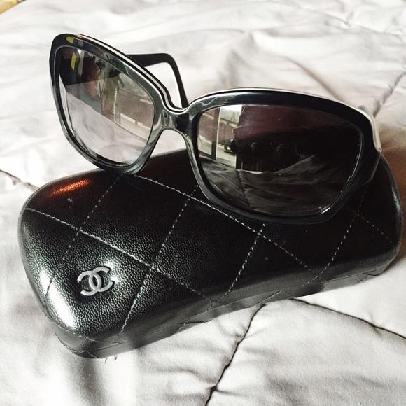 ad279c4cf661 CHANEL Accessories - Chanel luxottica sunglasses black + white