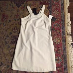 Zara white dress with open back and black bow