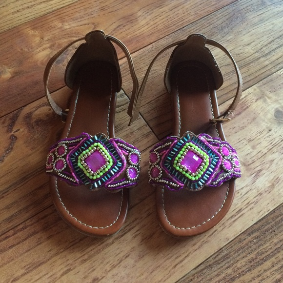 Other - Sparkly beaded brown sandals in size 13 like new