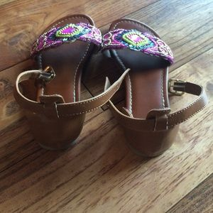 Shoes - Sparkly beaded brown sandals in size 13 like new