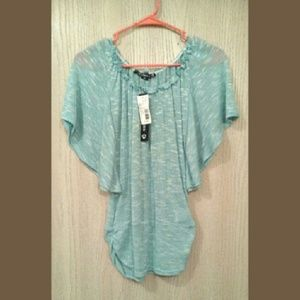 Sears Tops - NWT mint flutter sleeve top