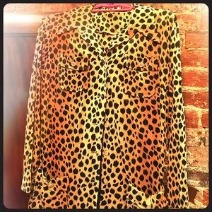 Vintage Cheetah Print Blouse