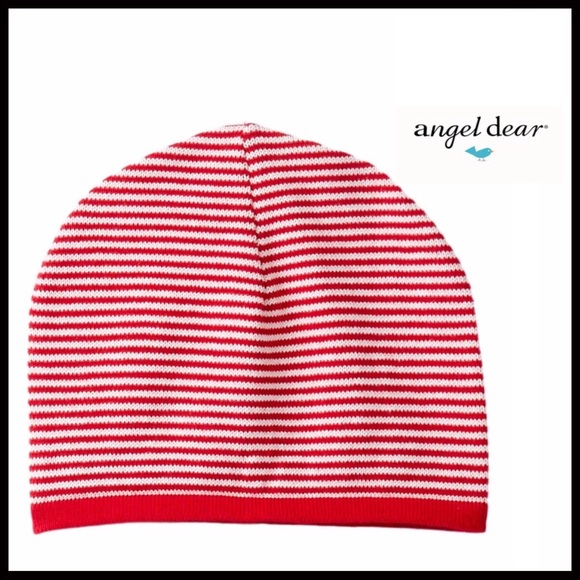 ANGEL DEAR 100% COTTON STRIPED BABY BEANIE CAP HAT a6bfee5bc09