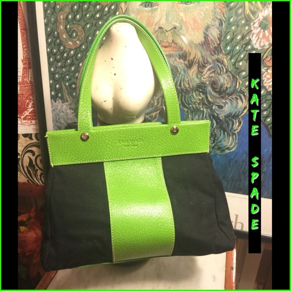 74% off kate spade Handbags - FIRM🎄KATE SPADE LIME GREEN/BLACK ...
