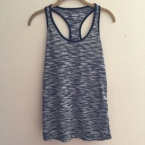 Black and white workout tank
