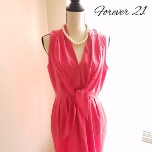 Pink Button up tie Forever 21 Dress