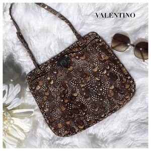 Valentino Handbags - VALENTINO FUR BROWN BAG