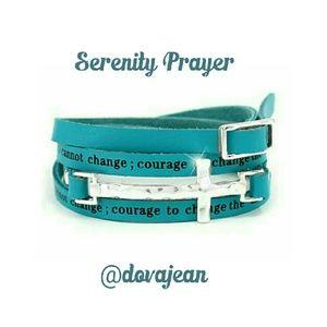 Cross Wrap Bracelet,  Serenity  Prayer Bracelet