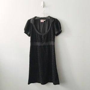 Juicy Couture Black Velvet Dress