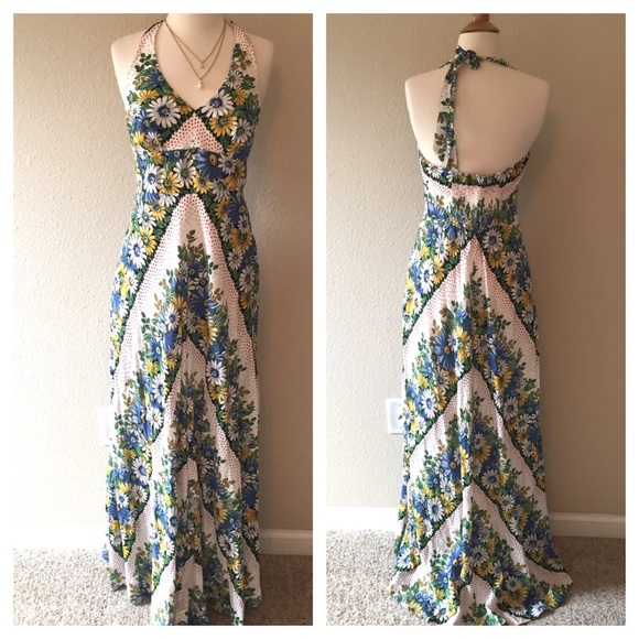 61 off anthropologie dresses skirts anthropologie for Anthropologie mural maxi dress
