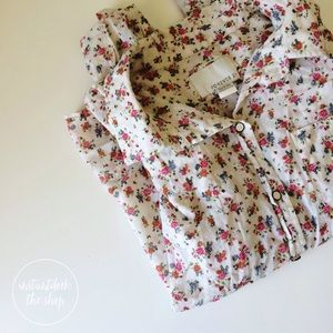 FOREVER 21  floral long sleeve button down