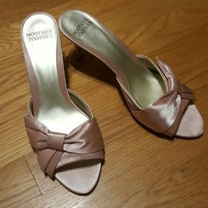 Shoes - NWOT Mootsies Tootsies pink satin heels