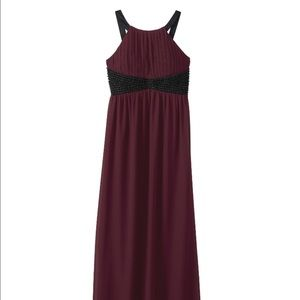 AX Paris Dresses & Skirts - Wine colored dress with black beading
