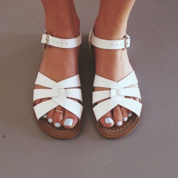 salt water sandals by hoy shoes white saltwater sandals