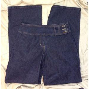 Bisou Bisou Denim - Vintage Bisou Bisou Dark Wash Wide Leg Jeans