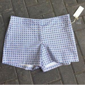 Mercer & Madison Pants - Blue Helmsley Print Prep Shorts