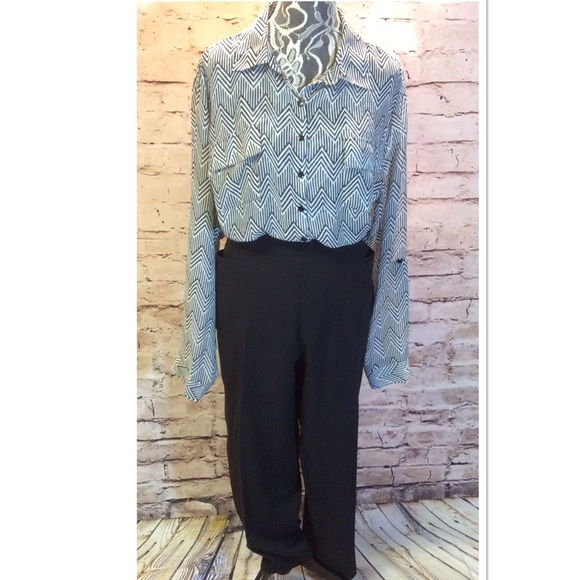 Dress Barn - SZ 14W DRESS BARN BLACK DRESSY CAPRIS/PLUS from ...