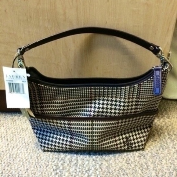 NWT Ralph Lauren houndstooth purse df924d0b97d61