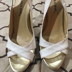 Wild Diva White Sandals