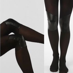 Urban Outfitters Accessories - New sneaky fox knee pad vegan leather tights urban