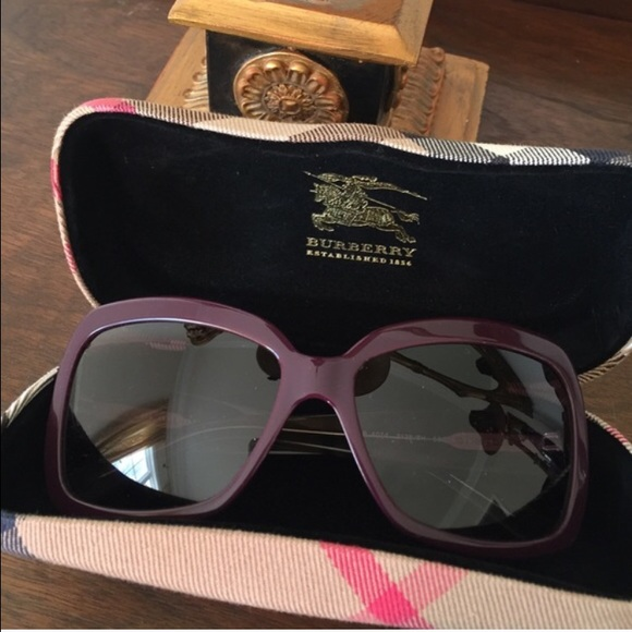 254bbf666aa4 Burberry Accessories - Purple Burberry sunglasses b4074 style