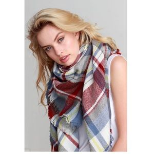 Accessories - 9 Colors, Plaid Blanket Scarf