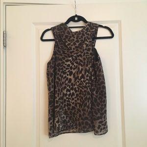 Cheetah Print Michael Kors Blouse