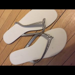 Charlotte Russe Shoes - White /silver brand new sandals size 8