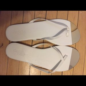 Charlotte Russe Shoes - White/ silver plated toe brand new sandals