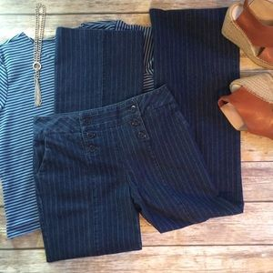 Attyre Denim - ATTYRE Nautical Pinstripe Trouser Jean