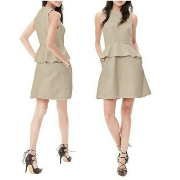 d9fb04e98d0 Banana Republic Cotton Linen Peplum Dress