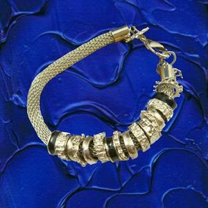 Silvertone European Charm Bracelet