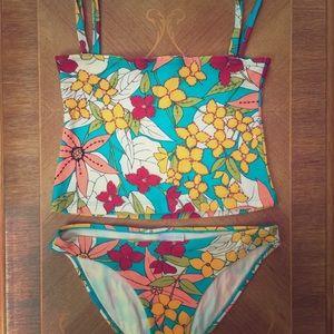 Other - Tropical Print Tankini Set