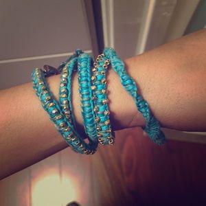 Teal chan luu bracelet