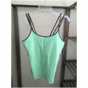 Unity :: Work Out Tank Top :: Mint Green & Gray