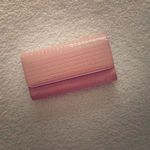 Carlo Pazolini Handbags - Gorgeous patent nude clutch with detachable chain
