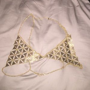 Gold Chain Bra