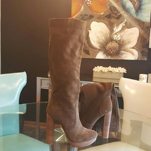 Boutique 9 Tall suede boots .. NEVER WORN