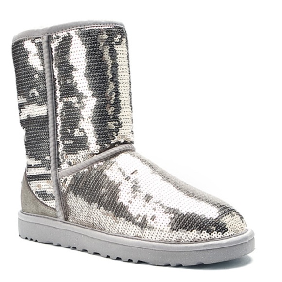 Ugg Silver Sequin Boots