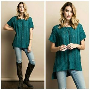 Teal Sweater Tunic