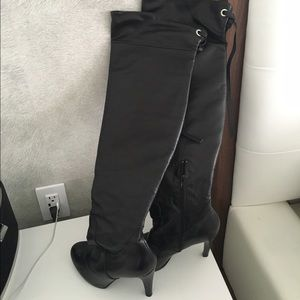 Shoes - Over the knee genuine leather boots